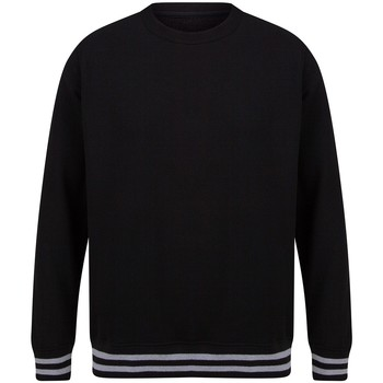 textil Sweatshirts Front Row FR840 Black/Heather Grey
