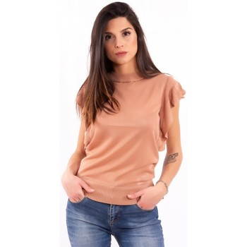 textil Dame T-shirts m. korte ærmer Fracomina FR20SM806 Farveløs