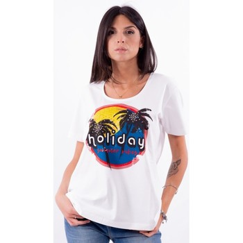 textil Dame T-shirts m. korte ærmer Persona By Marina Rinaldi VALUTA hvid