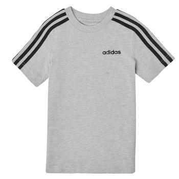 textil Dreng T-shirts m. korte ærmer adidas Performance YB E 3S TEE Grå