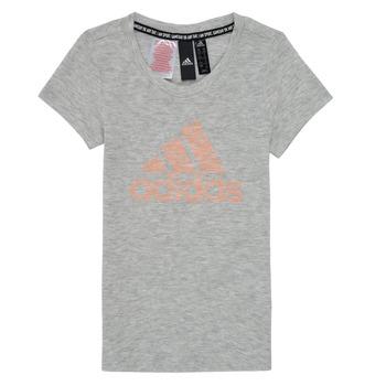 textil Pige T-shirts m. korte ærmer adidas Performance JG A MHE TEE Hvid