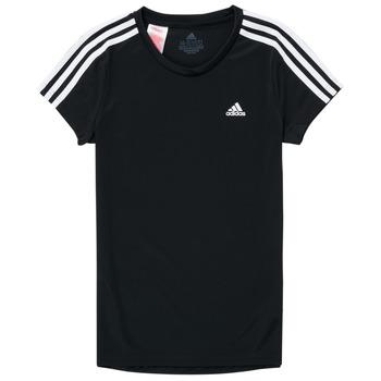 textil Pige T-shirts m. korte ærmer adidas Performance G 3S T Sort
