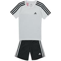 textil Dreng Træningsdragter adidas Performance B 3S T SET Hvid / Sort