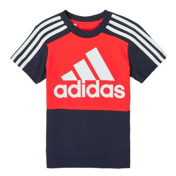 textil Dreng T-shirts m. korte ærmer adidas Performance B CB T Rød / Marineblå