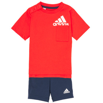 textil Dreng Sæt adidas Performance BOS SUM  SET Rød / Sort
