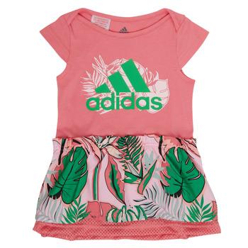 textil Pige Korte kjoler adidas Performance FLOWER DRESS Pink