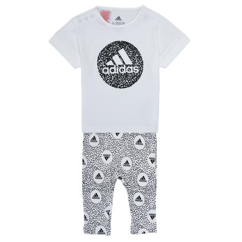 textil Pige Sæt adidas Performance TIGHT SET Hvid