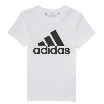 textil Dreng T-shirts m. korte ærmer adidas Performance B BL T Hvid