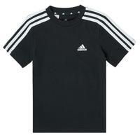 textil Dreng T-shirts m. korte ærmer adidas Performance B 3S T Sort