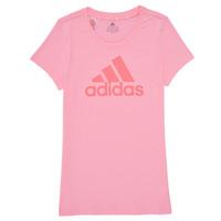 textil Pige T-shirts m. korte ærmer adidas Performance G BL T Pink