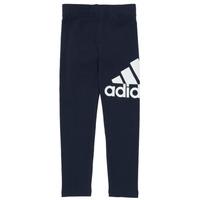 textil Pige Leggings adidas Performance G BL LEG Marineblå