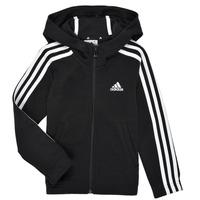 textil Pige Sweatshirts adidas Performance G 3S FZ HD Sort