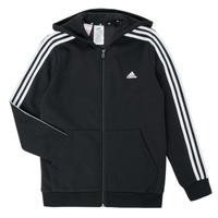 textil Dreng Sweatshirts adidas Performance B 3S FZ HD Sort