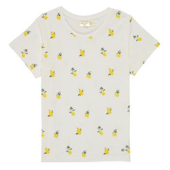 textil Pige T-shirts m. korte ærmer Deeluxe NADY Hvid