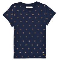 textil Pige T-shirts m. korte ærmer Deeluxe MAYA Marineblå