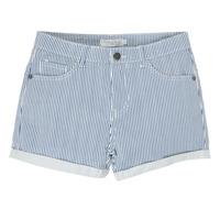 textil Pige Shorts Deeluxe BILLIE Hvid / Blå