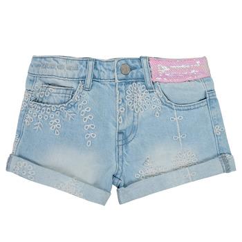 textil Pige Shorts Desigual 21SGDD05-5010 Blå
