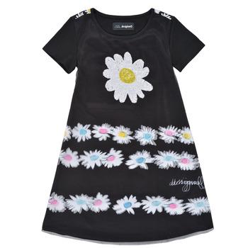 textil Pige Korte kjoler Desigual 21SGVK28-2000 Sort