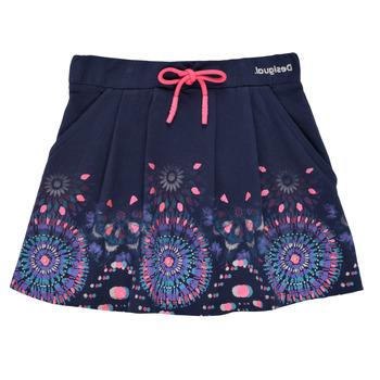 textil Pige Nederdele Desigual 21SGFK03-5000 Blå