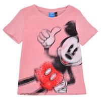 textil Pige T-shirts m. korte ærmer Desigual 21SGTK43-3013 Pink