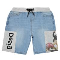 textil Dreng Shorts Desigual 21SBDD02-5053 Blå