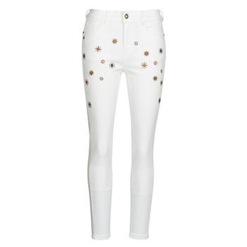textil Dame Smalle jeans Desigual AUSTRIA Hvid