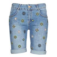 textil Dame Shorts Desigual GRECIA Blå
