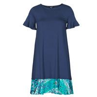 textil Dame Korte kjoler Desigual KALI Marineblå