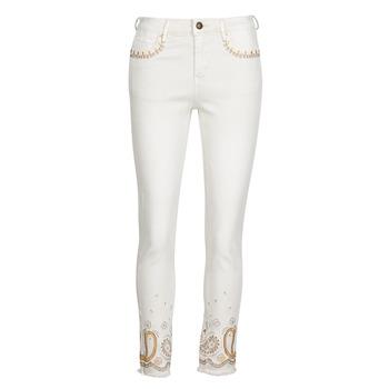 textil Dame Smalle jeans Desigual PAISLEY Hvid