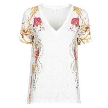 textil Dame T-shirts m. korte ærmer Desigual PRAGA Hvid