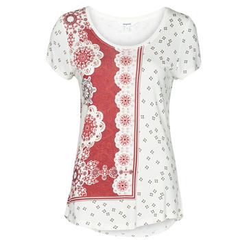 textil Dame T-shirts m. korte ærmer Desigual ESTAMBUL Hvid