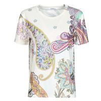 textil Dame T-shirts m. korte ærmer Desigual POPASLEY Hvid