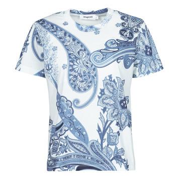 textil Dame T-shirts m. korte ærmer Desigual POPASLEY Blå