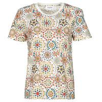 textil Dame T-shirts m. korte ærmer Desigual LYON Hvid