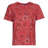 textil Dame T-shirts m. korte ærmer Desigual LYON Rød