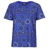 textil Dame T-shirts m. korte ærmer Desigual LYON Marineblå