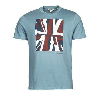 textil Herre T-shirts m. korte ærmer Ben Sherman HALF TONE FLEG TEE Blå