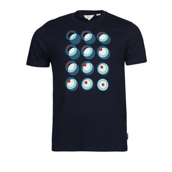 textil Herre T-shirts m. korte ærmer Ben Sherman TARGET CONSTRUCTION Marineblå