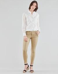 textil Dame Lærredsbukser Cream HOLLY TWILL PANT Beige