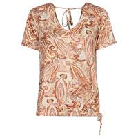 textil Dame T-shirts m. korte ærmer Cream LULLA TSHIRT Flerfarvet