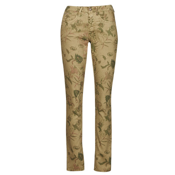 textil Dame Lærredsbukser Cream LOTTE PRINTED Flerfarvet