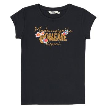 textil Dreng T-shirts m. korte ærmer Kaporal ELISA Sort