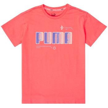 textil Pige T-shirts m. korte ærmer Puma ALPHA TEE Pink