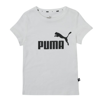 textil Pige T-shirts m. korte ærmer Puma ESS TEE Hvid