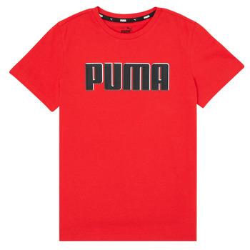 textil Dreng T-shirts m. korte ærmer Puma ALPHA GRAF TEE Rød