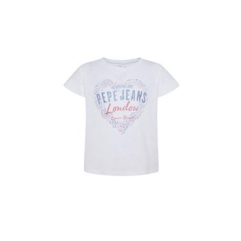textil Pige T-shirts m. korte ærmer Pepe jeans PIPER Hvid