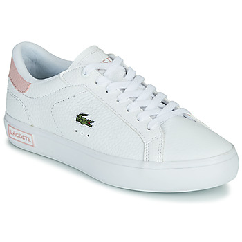 Sko Dame Lave sneakers Lacoste POWERCOURT 0721 2 SFA Hvid / Pink