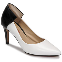 Sko Dame Højhælede sko Perlato 11764-VENUS-BLANC-JAMAICA-NOIR Hvid / Sort