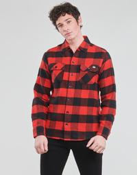 textil Herre Skjorter m. lange ærmer Dickies NEW SACRAMENTO SHIRT RED Rød / Sort