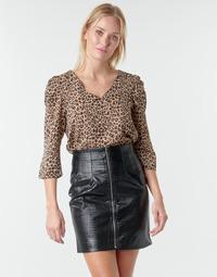 textil Dame Toppe / Bluser Moony Mood NOULIETTE Beige / Brun